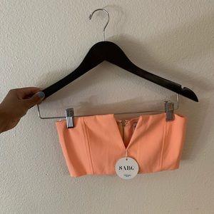Sabo Skirt peach coral set
